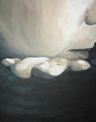 Yakuba Elena, Versenken in Gedanken, Menschen: Mann, Freizeit, Moderne, Abstrakter Expressionismus