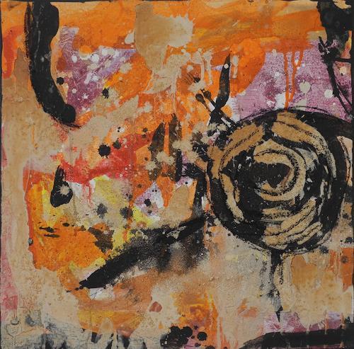 K.Ryn, Orange II, Abstraktes, Abstraktes, Informel