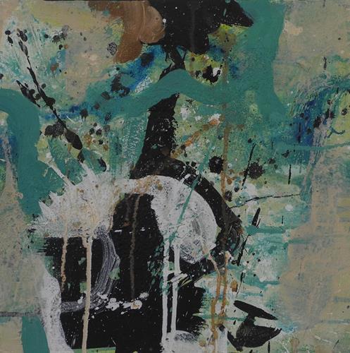 K.Ryn, Turquoise III, Abstraktes, Abstraktes, Informel