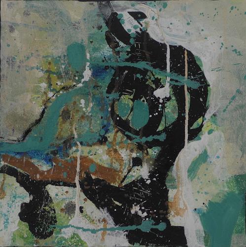 K.Ryn, Turquoise IV, Abstraktes, Abstraktes, Informel