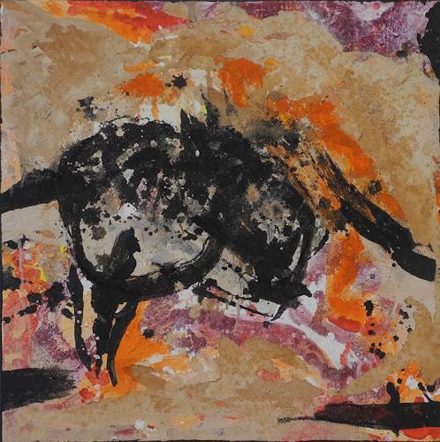 K.Ryn, Orange III, Abstraktes, Abstraktes, Informel