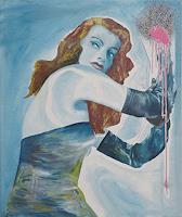SCHENKEL-Menschen-Frau-Bewegung-Moderne-Fotorealismus-Hyperrealismus