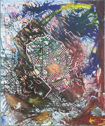SCHENKEL, Burn-in-Syndrom, Diverses, Abstraktes, Neo-Geo, Abstrakter Expressionismus