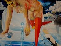 SCHENKEL-Fantasie-Menschen-Frau-Gegenwartskunst--Postsurrealismus