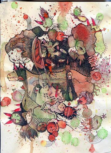 girinath gopinath, horror, Fantasie, Konzeptkunst, Abstrakter Expressionismus