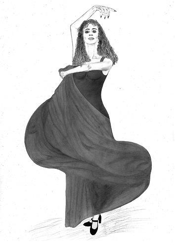 Micborn, Bewegung und Licht, Menschen: Frau, Bewegung