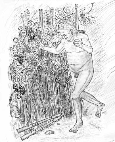 Micborn, Marsyas findet die Flöte, Mythologie, Menschen: Mann, Gegenwartskunst