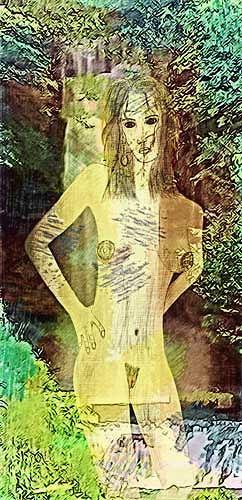 Micborn, Die Nymphe, Akt/Erotik: Akt Frau, Mythologie