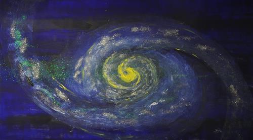 Barbara Straessle, Yellow Galaxy, Diverse Weltraum, Weltraum: Gestirne, Gegenwartskunst