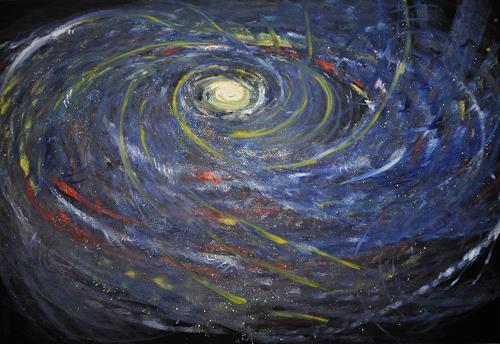 Barbara Straessle, Sternengespickte Galaxis, Diverse Weltraum, Weltraum: Gestirne, Gegenwartskunst