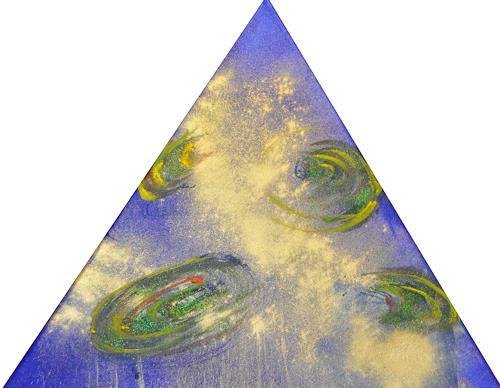 Barbara Straessle, Galaxien im Dreieck 1, Diverse Weltraum, Weltraum: Gestirne, Gegenwartskunst