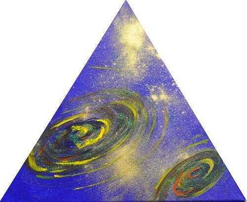 Barbara Straessle, Galaxien im Dreieck 2, Diverse Weltraum, Weltraum: Gestirne, Gegenwartskunst
