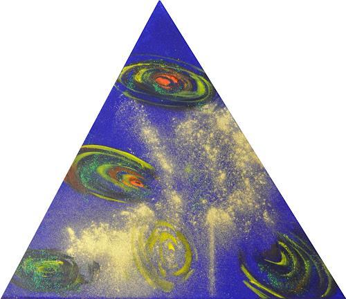 Barbara Straessle, Galaxien im Dreieck 3, Diverse Weltraum, Weltraum: Gestirne, Gegenwartskunst
