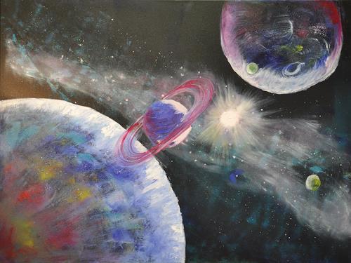 Barbara Straessle, Milchstraße, Diverse Weltraum, Weltraum: Gestirne, Gegenwartskunst