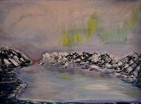 Barbara-Straessle-Landschaft-See-Meer-Landschaft-Berge-Moderne-Naturalismus