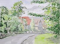 unikat2008-Architektur-Landschaft-Huegel-Gegenwartskunst--New-Image-Painting