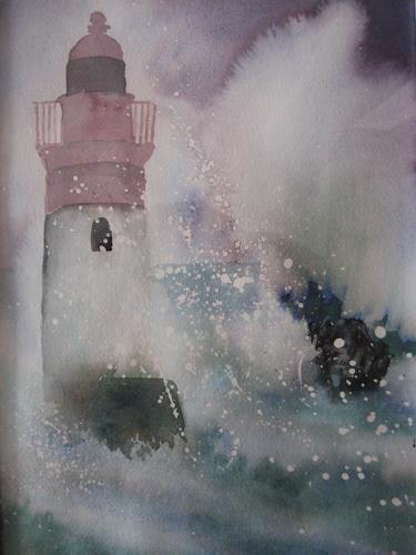Stephanie Zobrist, Leuchtturm, Natur: Wasser, Naturalismus