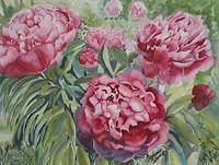 Stephanie-Zobrist-Landschaft-Sommer-Pflanzen-Blumen-Moderne-Naturalismus
