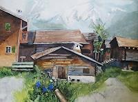 Stephanie-Zobrist-Landschaft-Berge-Zeiten-Sommer-Moderne-Naturalismus