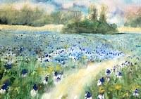 Stephanie-Zobrist-Landschaft-Fruehling-Pflanzen-Blumen-Moderne-Naturalismus