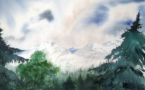 Stephanie Zobrist, Die Schweiz, Landschaft: Berge, Natur: Wald, Naturalismus