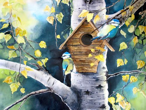 Stephanie Zobrist, Birds, Tiere: Luft, Zeiten: Herbst, Naturalismus
