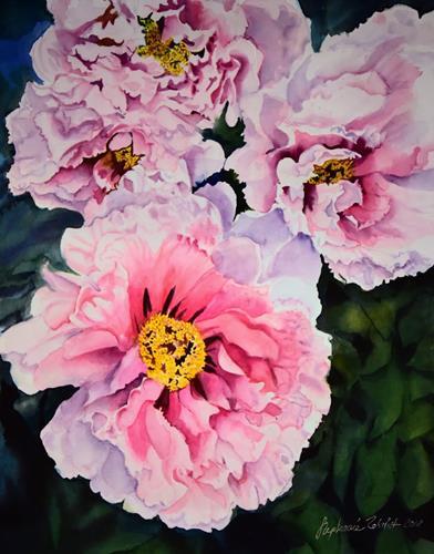 Stephanie Zobrist, Peonies, Pflanzen: Blumen, Landschaft: Frühling, Hyperrealismus