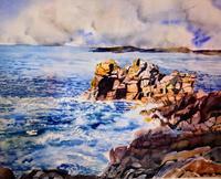 Stephanie-Zobrist-Landschaft-See-Meer-Zeiten-Sommer-Moderne-Naturalismus