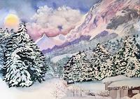 Stephanie-Zobrist-Landschaft-Berge-Zeiten-Winter-Moderne-Naturalismus