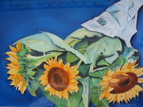 sonnenblumen von stephanie zobrist pflanzen blumen zeiten herbst malerei. Black Bedroom Furniture Sets. Home Design Ideas