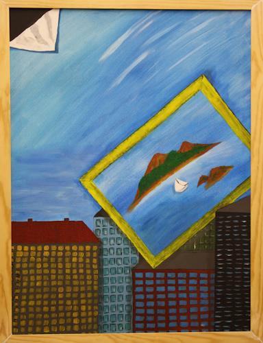 Ralf H. G. Schumacher, Sehnsucht, Fantasie, Landschaft: See/Meer, Symbolismus