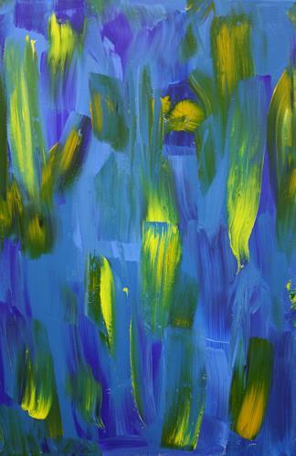 Ralf H. G. Schumacher, Blaue Lilien, Pflanzen: Blumen, Abstraktes