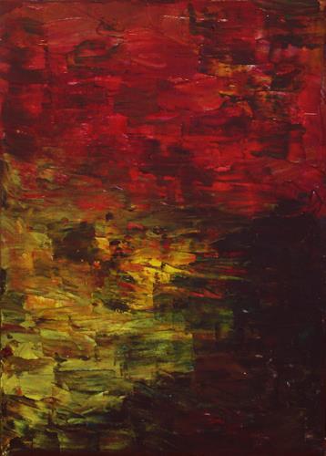 Ralf H. G. Schumacher, Sonnenuntergang, Romantik: Sonnenuntergang, Landschaft: See/Meer, Gegenwartskunst
