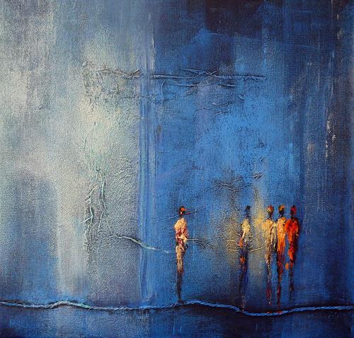 Soraya Hamzavi-Luyeh, Neugier, Menschen: Gruppe, Abstraktes, Abstrakte Kunst, Moderne
