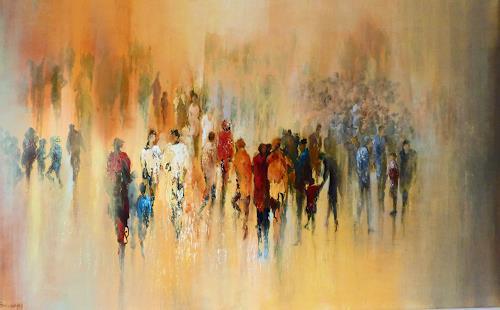 Soraya Hamzavi-Luyeh, Besammlung, Abstraktes, Menschen: Gruppe, Abstrakte Kunst, Expressionismus