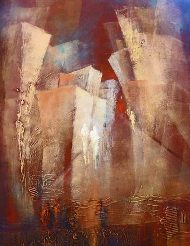 Soraya Hamzavi-Luyeh, Skyline, Abstraktes, Wohnen: Stadt, Abstrakte Kunst