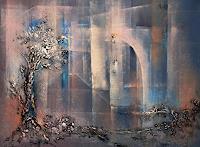 Soraya-Hamzavi-Luyeh-Pflanzen-Baeume-Skurril-Moderne-Abstrakte-Kunst