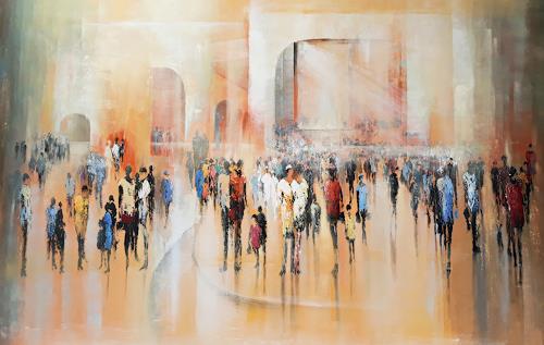 Soraya Hamzavi-Luyeh, Sonntag 2, Menschen, Abstraktes, Abstrakte Kunst