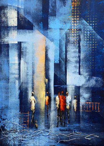 Soraya Hamzavi-Luyeh, New York, Abstraktes, Menschen, Abstrakte Kunst