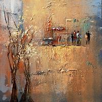Soraya-Hamzavi-Luyeh-Abstraktes-Landschaft-Herbst-Moderne-Abstrakte-Kunst