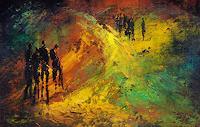 Soraya-Hamzavi-Luyeh-Abstraktes-Menschen-Gruppe-Moderne-Abstrakte-Kunst