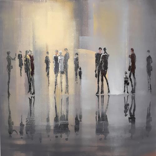 Soraya Hamzavi-Luyeh, Moderne Welt, Menschen, Menschen: Gruppe, Abstrakte Kunst, Expressionismus