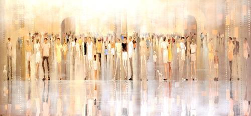 Soraya Hamzavi-Luyeh, Warten auf, Menschen, Abstraktes, Abstrakte Kunst, Expressionismus