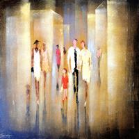 Soraya-Hamzavi-Luyeh-Menschen-Menschen-Gruppe-Moderne-Abstrakte-Kunst