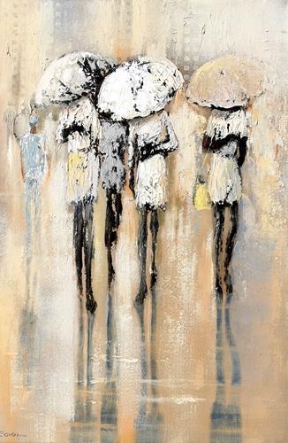 Soraya Hamzavi-Luyeh, Umbrella, Menschen, Gefühle: Depression, Abstrakte Kunst, Expressionismus