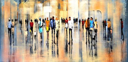 Soraya Hamzavi-Luyeh, Community, Menschen, Menschen: Gruppe, Abstrakte Kunst, Expressionismus