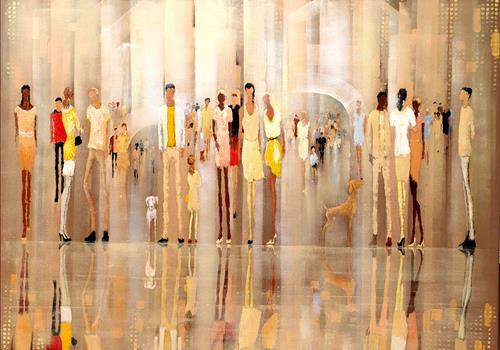 Soraya Hamzavi-Luyeh, New Meeting Point, Menschen, Fashion, Abstrakte Kunst