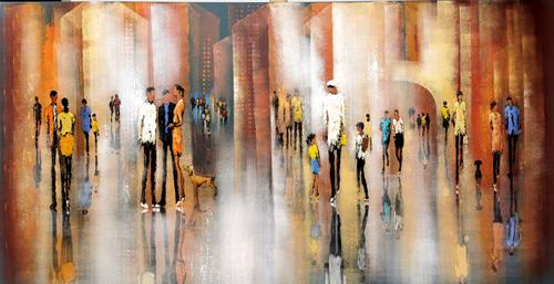 Soraya Hamzavi-Luyeh, Big City Life, Wohnen: Stadt, Menschen, Abstrakte Kunst