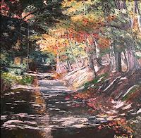 Martina-Krupickova-Landschaft-Herbst-Diverse-Landschaften-Moderne-Impressionismus-Neo-Impressionismus