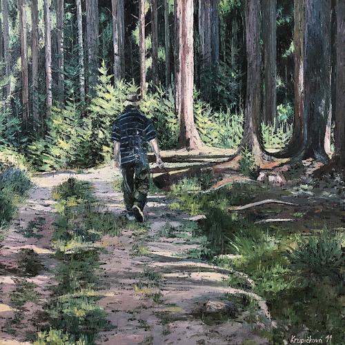 Martina Krupickova, Mashrooming, Diverse Landschaften, Diverse Menschen, Neo-Impressionismus